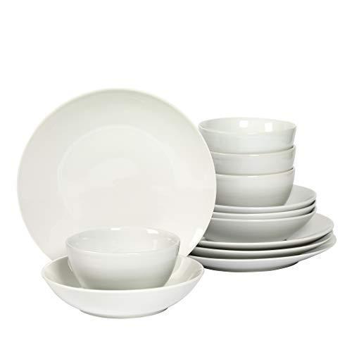 Denmark 12-Piece White Dinnerware Set