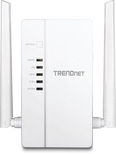 TRENDnet Wi-Fi Everywhere Powerline 1200 AV2 AC1200 Wireless Access Point, Dual-Band, 3 x Gigabit Ports, WiFi Clone, Cross Compatible with Powerline 600/500/200, TPL-430AP