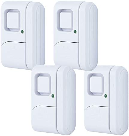 GE Personal Security Window/Door, 4-Pack, DIY Protection, Burglar Alert, Wireless, Chime/Alarm, Easy Installation, Ideal for Home, Garage, Apartment, Dorm, RV and Office, 45174, 4 Pack