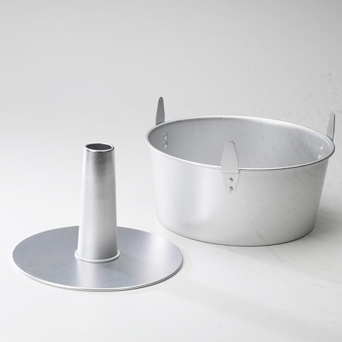 Nordic Ware Natural Aluminum Commercial 2-Piece Angel Food Pan