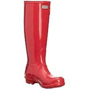 Women's Hunter Original Tall Gloss Waterproof Wellington Winter Rain Boot