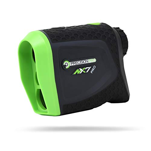 Precision Pro Golf, NX7 Pro Slope Golf Rangefinder, Laser Golf Rangefinder with Pulse Vibration, 400 Yard Range, 6X Magnification, Lifetime Battery Replacement