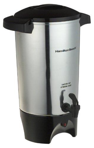 Hamilton Beach 40515 40515R 45-Cup Coffee Urn, Silver, Medium,