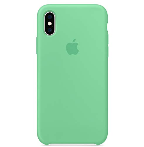 BigMike Compatible for iPhone Xs Case, iPhone X Case, Liquid Silicone Gel Rubber Shockproof Case Soft Microfiber Cloth Lining Cushion Compatible with iPhone Xs/X (5.8') (Spearmint)