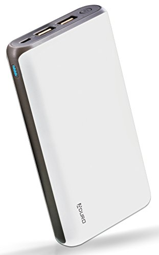 Aduro 20,000mAh Battery Pack Power Bank, External Battery Charger Compatible with iPhone Android Smartphone Tablet Portable Power Backup Charges Any USB Device (White)