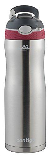 Contigo AUTOSPOUT Straw Ashland Chill Stainless Steel Water Bottle, 20 oz, Sangria 1