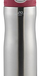 Contigo AUTOSPOUT Straw Ashland Chill Stainless Steel Water Bottle, 20 oz, Sangria 14