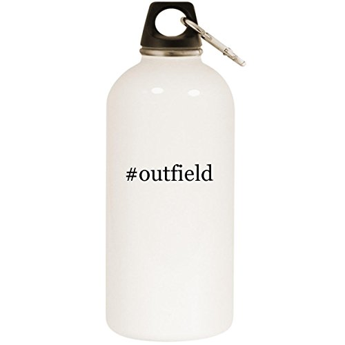 Molandra Products #Outfield - White Hashtag 20oz Stainless Steel Water Bottle with Carabiner