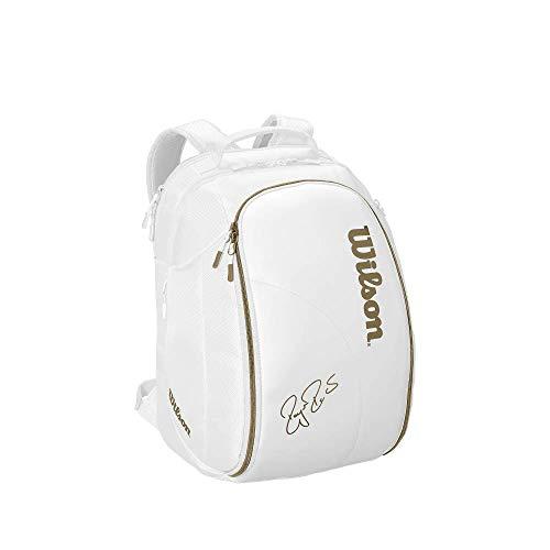 Wilson Federer DNA Tennis Backpack (White/Gold)