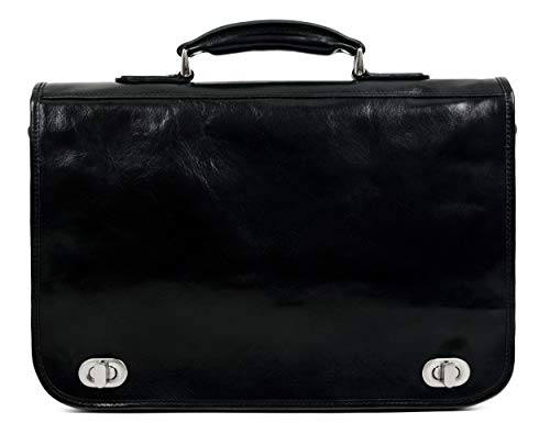 Leather-Briefcase-for-Men-Italian-Handcrafted-Full-Grain-Messenger-Bag-for-Laptop-Black-Time-Resistance