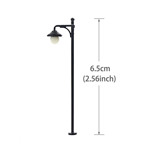 Evemodel-LYM22-10pcs-Model-Railway-Train-Lamp-Post-65cm-or-256inch-Street-Lights-HO-OO-Scale-LEDs-New
