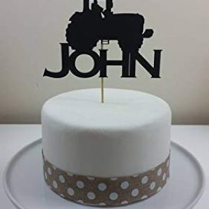 Personalised Tractor Card Cake Topper, Birthday, celebration. 312s4FdKqzL