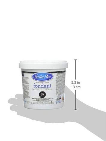 Satin Ice Pasta di Zucchero Nera alla Vaniglia - 1000 gr