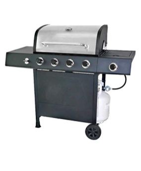 RevoAce-4-Burner-LP-Gas-Grill-with-Side-Burner-Stainless-Steel
