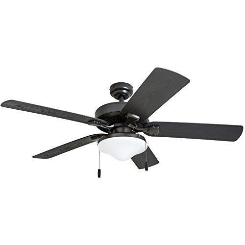 Honeywell Belmar Outdoor LED Ceiling Fan with LED Light, Waterproof, Damp-Rated, 52' Dark Bronze