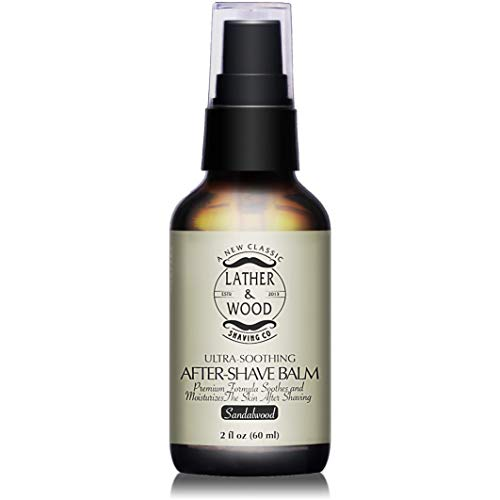Best After-shave Balm, Sandalwood Scent, Premium Aftershave Lotion, Soothes and Moisturizes Face after shaving, Does Not Dry The Skin, Eliminates Razor Burn For A Silky Smooth Finish ...