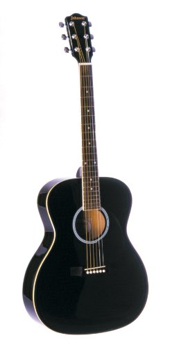 Johnson JG-420-B 000-Style Acoustic Guitar, Black