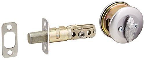 Kwikset 667 Single-Sided Deadbolt w/Exterior Plate in Satin Chrome