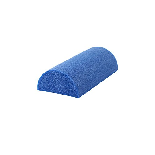 CanDo PE Blue Foam Roller, 6' X 12', Half-Round