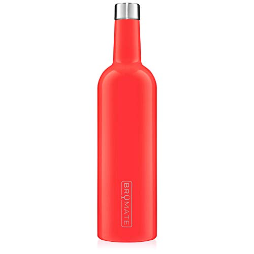 BruMate-Winesulator-25-Oz-Triple-Walled-Insulated-Wine-Canteen-Made-Of-Stainless-Steel-24-hour-Temperature-Retention-Shatterproof-Comes-With-Matching-Silicone-Funnel-Coral