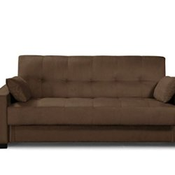 Pearington Mia Sofa Bed- Microfiber, Multi Position Bedroom, Living Room, or Office Futon Couch Sleeper and Lounger with Extra Storage under Bottom Cushion, Mocha