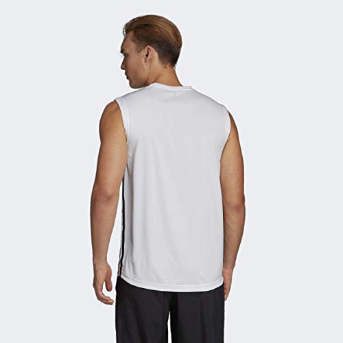 adidas Men's Designed 2 Move 3-stripes Sleeveless Tee 17 Fashion Online Shop gifts for her gifts for him womens full figure