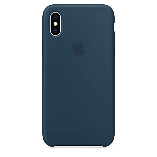 iPhone X Silicone Case,Yongfengintl Liquid Silicone Gel Rubber Shockproof Case and Ultra Soft Microfiber Cloth Lining Cushion for Apple iPhone X/10 (Cosmos Blue)