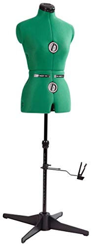 Dritz 20420 Sew-You Dressform with Tri-Pod Stand Adjustable Up to 63' Shoulder Height, Small, Opal Green