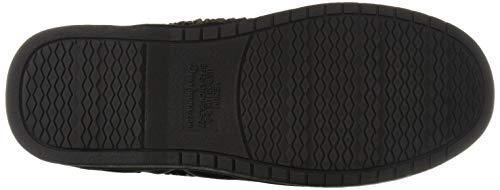 Dearfoams Men's Microsuede Moc Whipstitch Mem Foam Slipper