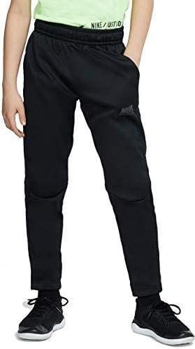 Nike Kids Boy's Therma Open Hem Pants (Big Kids) Black/Grey 1