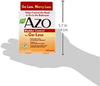 AZO Bladder Control with Go-Less Daily Supplement | Helps Reduce Occasional Urgency* | Helps reduce occasional leakage due to laughing, sneezing and exercise | 54 Count Capsules 8