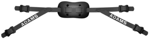 Adams USA PRO-25-4S 4-Point Low Football Chin Strap with Sewn Straps, Black