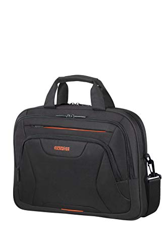American Tourister At Work Briefcase, 42 cm, 15 Litre, Black/Orange