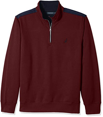 Nautica Men's 1/4 Zip Pieced Fleece Sweatshirt