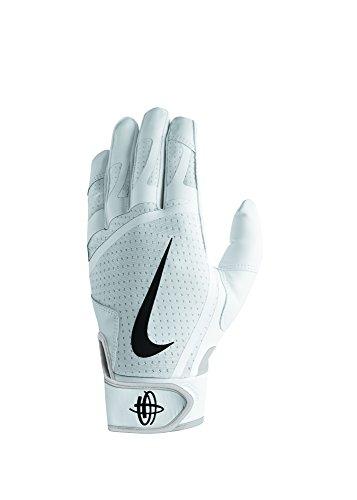 Nike Men's Huarache Edge Batting Gloves White/Black Size Medium