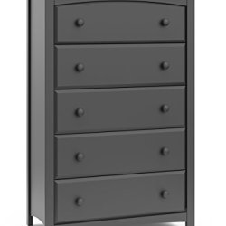 Storkcraft Kenton 5 Drawer Universal Dresser | Wood and Composite Construction, Ideal for Nursery, Toddlers or Kids Room…
