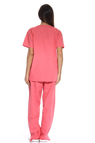 Simply Love Ladies's Coral Scrub Set – Further Small,Coral,X-Small deal 50% off 314rhumjADL