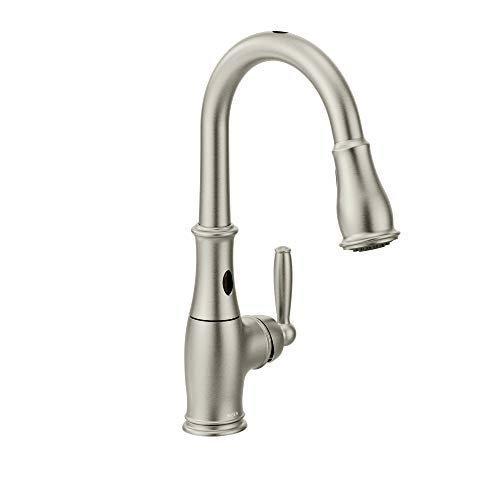 Moen 7185ESRS Brantford Motionsense Two-Sensor Touchless One-Handle High Arc Pulldown Kitchen Faucet Featuring Reflex, Spot Resist Stainless