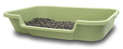 Kitty-Go-Here-Senior-Cat-Litter-Box-for-Cats-That-Cant-cope-with-a-Traditional-Litter-Box-24x20x5-Apple-Green-Color-See-Photo-of-DimensionsNo-lid-Available-USA