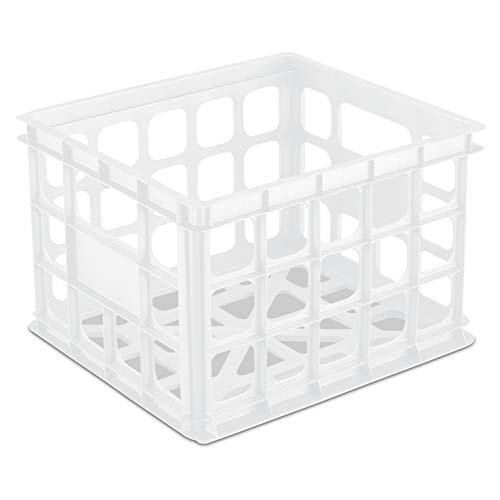 Sterilite Storage Crate, White (Available in Case of 6)