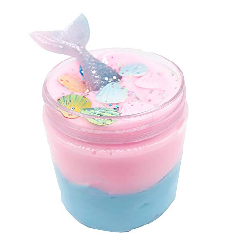 BODOAO Kawaii Slime Beautiful Mermaid Mud Mixing Cloud Slime Putty Scented Stress Kids Clay Toy Slime kit
