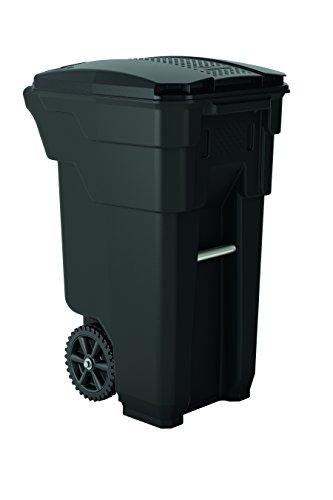 Suncast Commercial BMTCW32 Wheeled Trash Can, 36.5' Height, 20.25' Width, 26.5' Length, 32 gal Capacity, Polyethylene, Gray