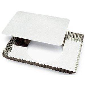 Gobel Rectangular Tart Mold 8' x 11-1/4' x 1' Deep with Loose Removable Bottom