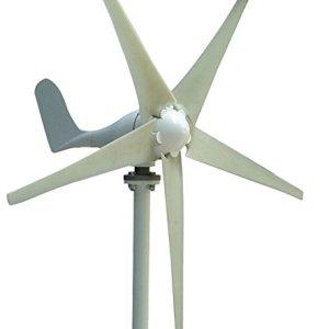 MarsRock Wind Turbine Generator Economy 2m/s Low Star-up Wind Speed 100W 200W 300W 400W Windmill AC 12V or 24V 5 Blades