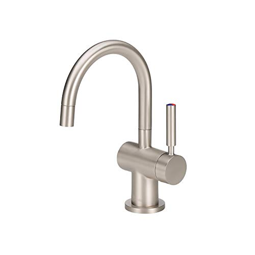 InSinkErator F-HC3300SN Modern Instant Hot & Cold Water Dispenser - Faucet Only, Satin Nickel