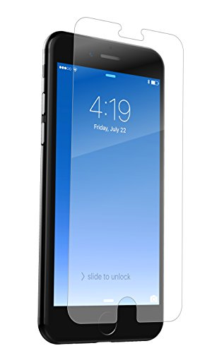 ZAGG InvisibleShield Glass+ Screen Protector – Fits iPhone 8 Plus, iPhone 7 Plus, iPhone 6s Plus, iPhone 6 Plus – Extreme Impact & Scratch Protection – Easy to Apply – Seamless Touch Sensitivity