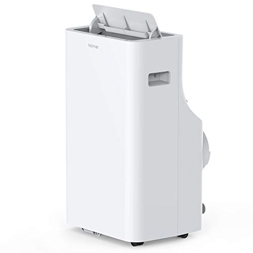 hOmeLabs 14,000 BTU Portable Air Conditioner - Quiet AC Cools Rooms 550 to 700 Sq. Ft. - Includes Remote Control and 100 Pint Dehumidifier Function