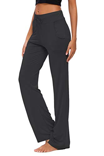 Bamboo hip hugger flap pockets boot cut yoga pants