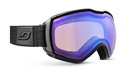 Julbo Aerospace Snow Goggles, Black Frame - REACTIV Performance 1-3 Red Lens w/Blue Mirror