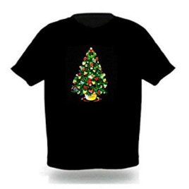 Sound Activated LED Christmas Tree T-shirt (XL)